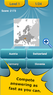 Countries Location Maps Quiz 10
