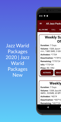 Jazz Warid Packages 2021 | Jazz Warid Packages New android2mod screenshots 7
