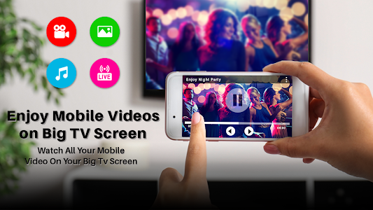 Screen mirroring: screen Sharing, cast to tv 1.2