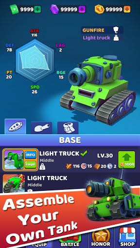 Tank Royale-Online IO howling Tank battle game screenshots 7
