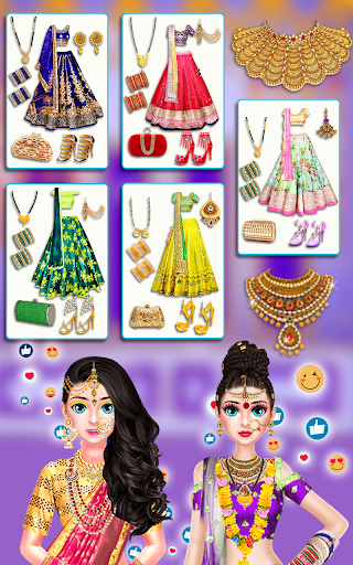 Indian Bride Stylist Dressup & Beauty Makeup Game screenshots 9