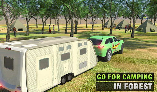 Camper Van Truck Simulator: Cruiser Car Trailer 3D screenshots 7