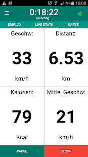 Fahrrad computer - GPS fitness tracker Screenshot
