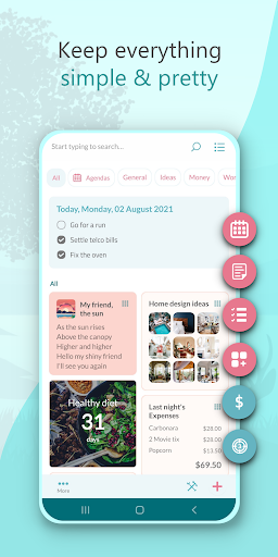 Wondr Note - Cute Notes, Lists, Countdown & more android2mod screenshots 1