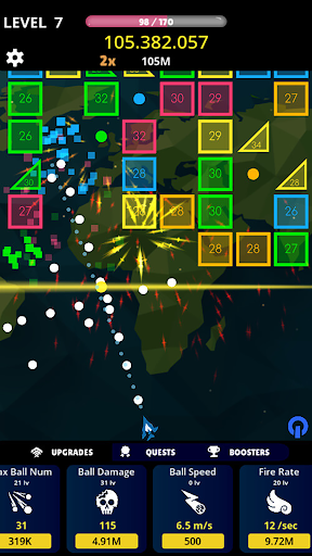 balls vs box numbers idle - bricks breaker screenshot 2