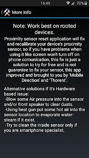 Датчик приближения Сброс ремонт service Screenshot