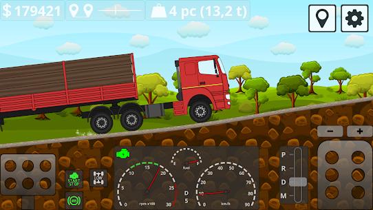 Mini Trucker – 2D offroad truck simulator MOD APK 1.6.0 (Purchase Free) 8