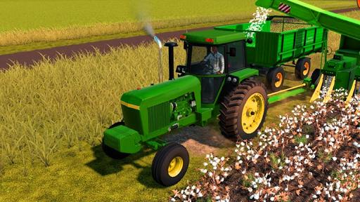 Village Tractor Drive 2021-Farm Offroad Sim Games  screenshots 2