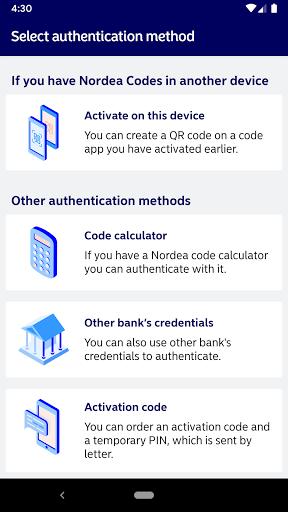 Nordea Codes  screenshots 2