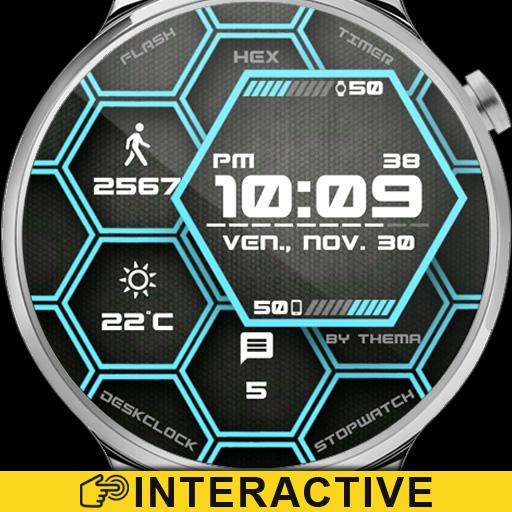 Hex Watch Face & Clock Widget Icon