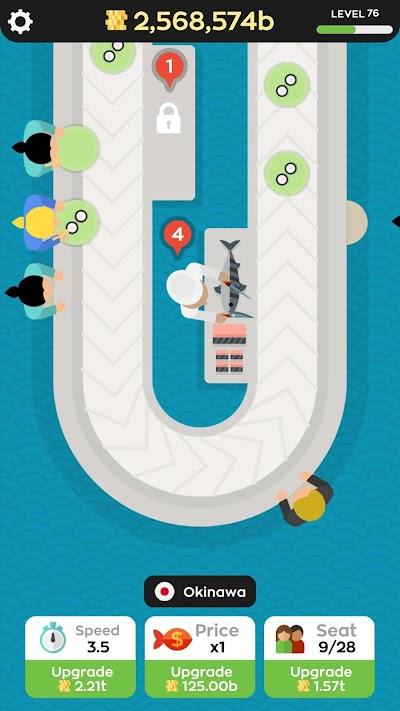 Sushi Bar Idle Android App Screenshot