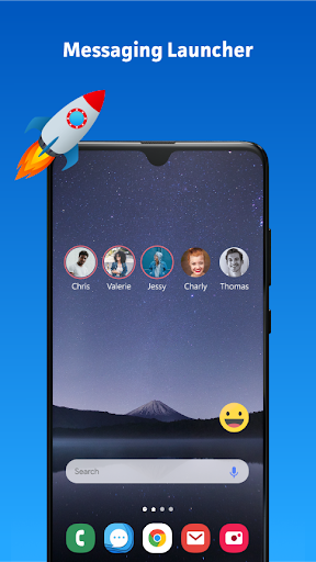 Messenger Home - SMS Widget and Home Screen android2mod screenshots 5