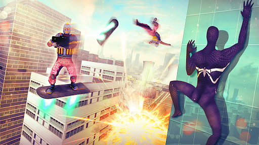 🕷 Spider Superhero Fly Simulator apktreat screenshots 2