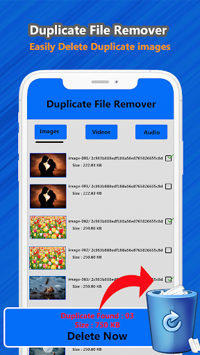 Duplicate file remover & all Media cleaner 1.2 screenshots 2