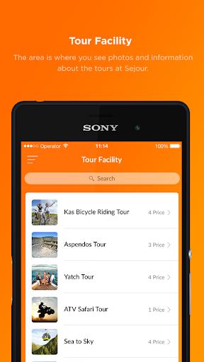 sejour mobile screenshot 2