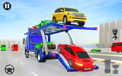 Crazy Car Transport Truck: Offroad Driving Game 10