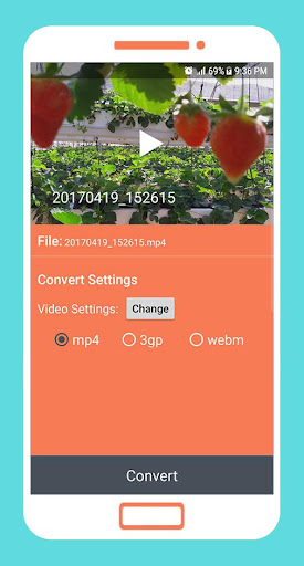 To mp4 3gp webm Video Converter app apktram screenshots 2