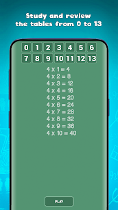 Free multiplication tables games (times tables) Apk 2