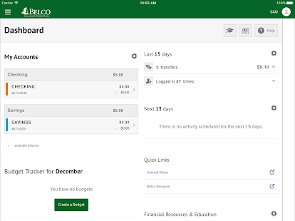 Belco CU Money Manager