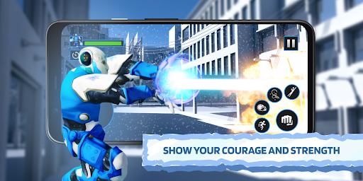 Ice Superhero Flying Robot - Fighting Games  Pc-softi 4