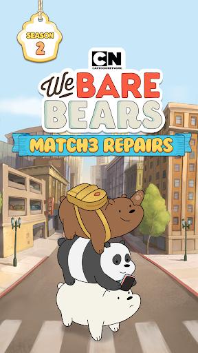We Bare Bears: Match3 Repairs screenshots 1