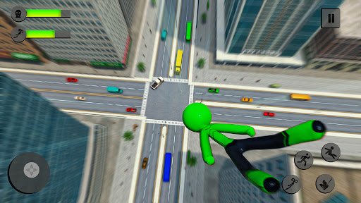 Flying Stickman Rope Hero 2021  screenshots 1