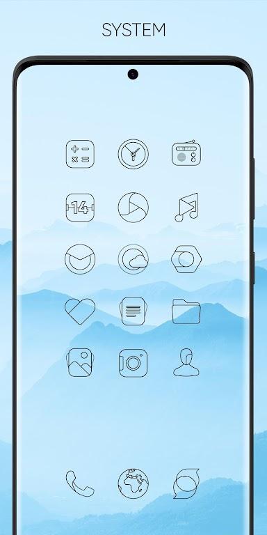 Vera Outline Black - Black linear icons  poster 0