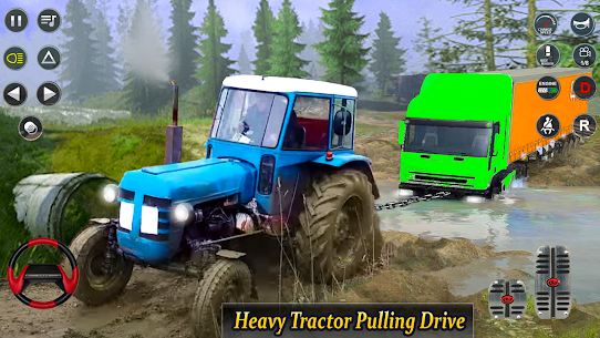 Real Tractor Pulling Simulator  Offroad | City Mod Apk Download 3