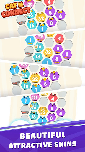 Cat Cell Connect - Merge Number Hexa Blocks 1.2.0 screenshots 2