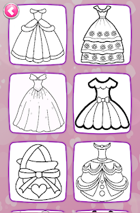 Glitter Dresses Coloring Book - Drawing pages 7.0 Screenshots 10