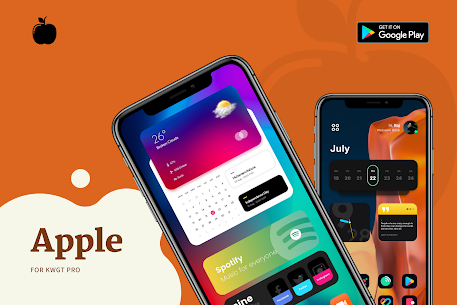 Apple for KWGT APK 2.0 [Paid] Download for Android 3