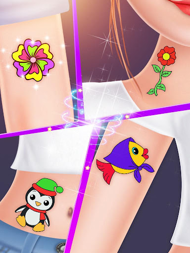 Tattoo Design & Nail Salon - Hand & Leg Spa Game screenshots 3