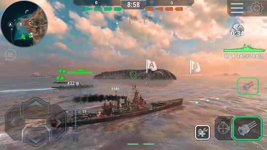 Warships Universe: Naval Battle Mod Apk 0.8.2 (Mod Banknotes/Diamonds) 4