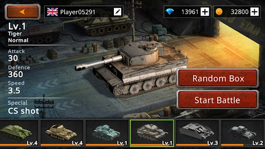 Battle Tank2 APK MOD HACK (Monedas Ilimitadas) 4