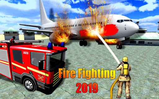 American Fire Fighter 2019: Airplane Rescue apkpoly screenshots 1