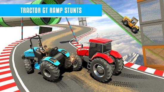 Farming Tractor Stunt-Spiele: Mega Ramp GT Racing Screenshot