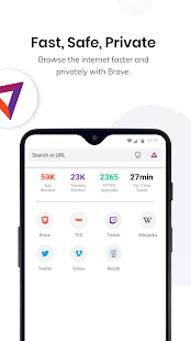 Brave Private Browser: Secure, fast web browser 1.27.111 Screenshots 1