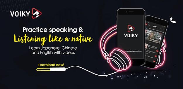 Listening Japanese, Chinese and English: Voiky (MOD APK, Premium) v3.7 1