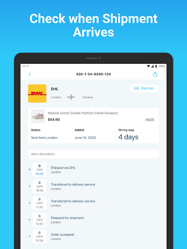 Package Tracker - Fedex, USPS, UPS, Wish, DHL, TNT apktram screenshots 8