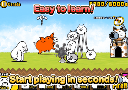The Battle Cats Mod Apk Unlimited Money,Food,Unlocked All Cats Android 6