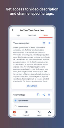 Youtags Pro: Find Tags for Videos, SEO Tags Finder apktram screenshots 5