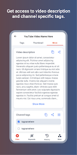 YouTags Pro: Find tags for videos Screenshot