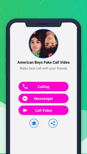 American Boys Fake Call Video - Chat Simulation
