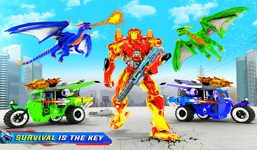 Tuk Tuk Rickshaw Dragon Robot Transform Robot Game  Screenshots 12