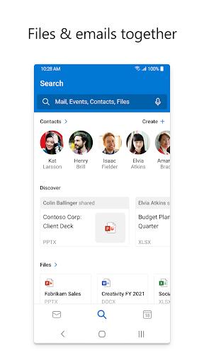 Microsoft Outlook: Secure email, calendars & files 4.2105.3 screenshots 3