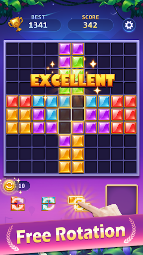 BlockPuz Jewel-Free Classic Block Puzzle Game 1.2.1 screenshots 2