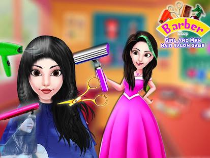 Barber Shop - Girl And Men Hair Salon Game