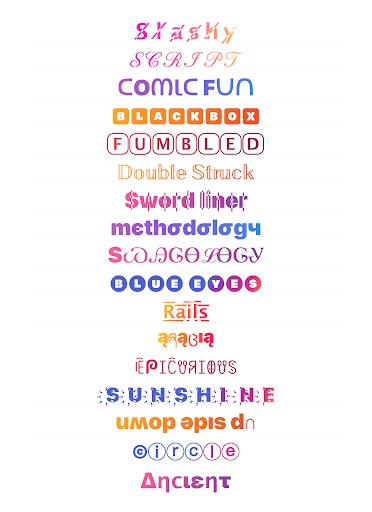 Cool Fonts for Instagram - Stylish Text Fancy Font 4.9 Screenshots 1