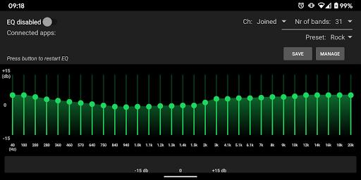 SpotEQ - 31 Band Equalizer For Left & Right Side 1.7.5 Screenshots 14