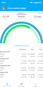 Data counter widget Pro Apk: Data usage manager (Mod/Paid) 2